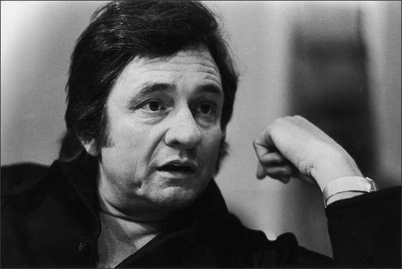 Johnny Cash Open Casket Johnny cash in seattle, 1973.