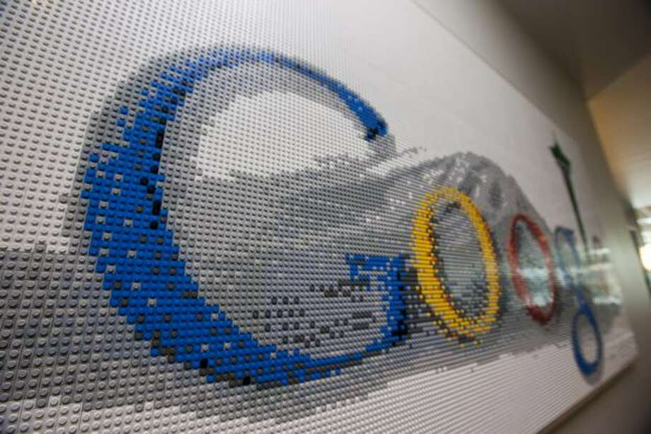 Google Kirkland features a sign made of Legos in one of its hallways. Photo: Getty Images