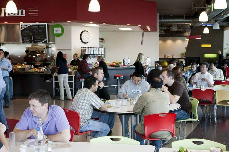 Google employees and contractors fill the cafeteria at Google Kirkland on Wednesday. Photo: Getty Images
