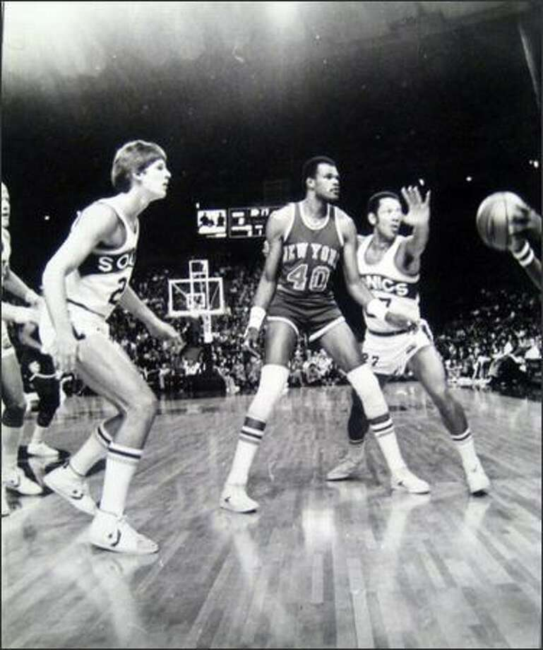 Marvin Webster, playing for the New York Knicks, facing his former team in Nov. 1978 during a game at the Kingdome. (Bob Miller/Seattlepi.com file photo) Photo: P-I File
