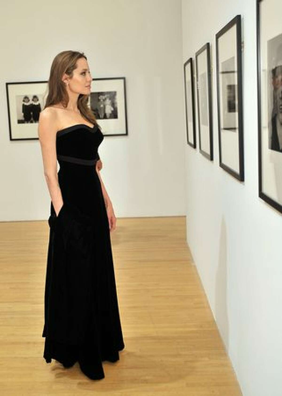 Actress Angelina Jolie attends the MOCA NEW 30th anniversary gala held at MOCA on Saturday in Los Angeles, California.