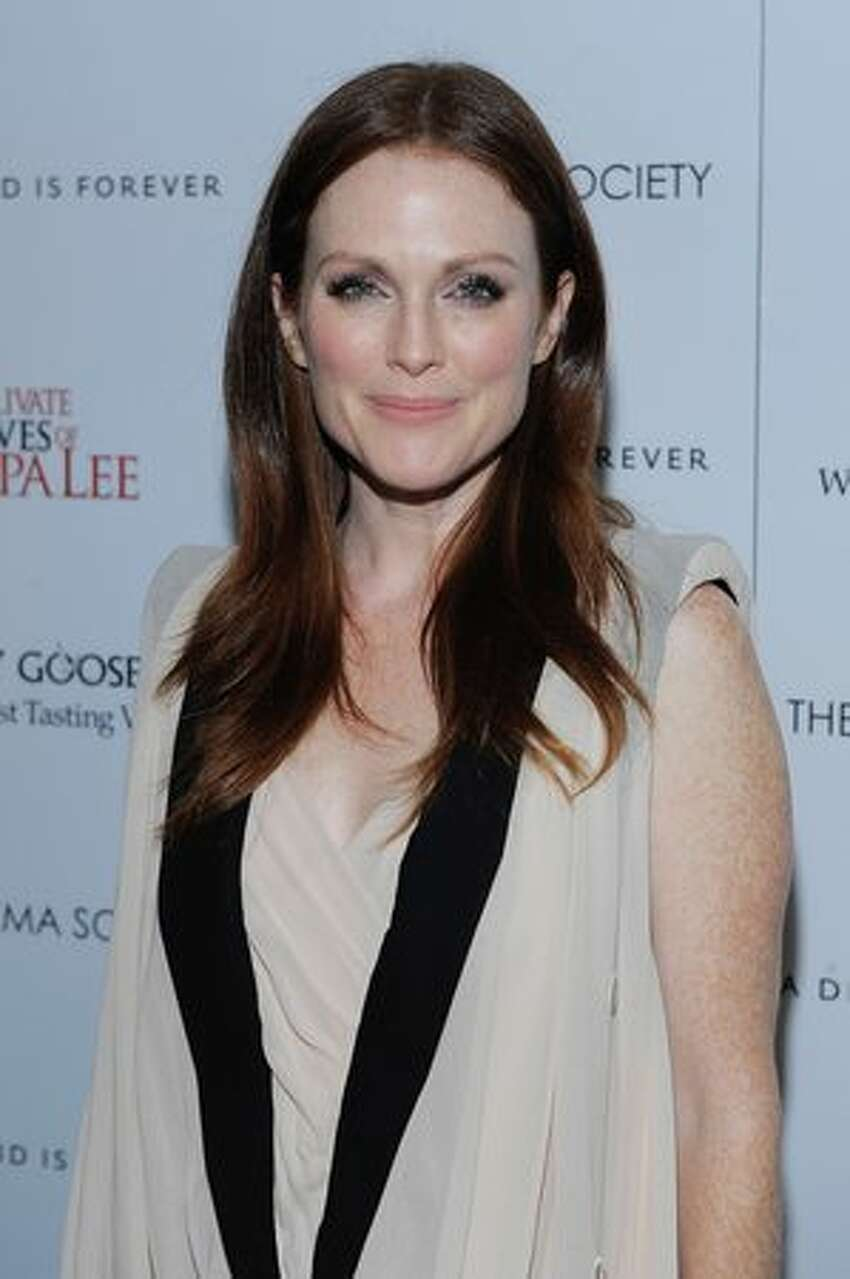 Actress Julianne Moore attends The Cinema Society & A Diamond is Forever screening of
