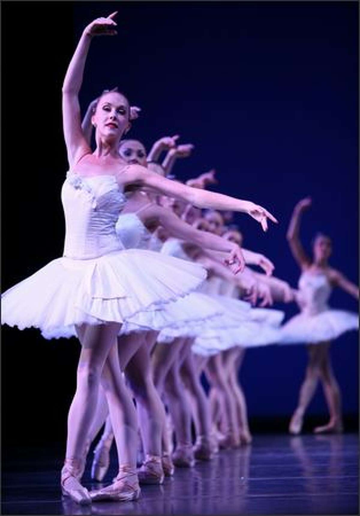 Corps de ballet dancer Kylee Kitchens and members of Pacific Northwest Ballet perform George Balanchine's