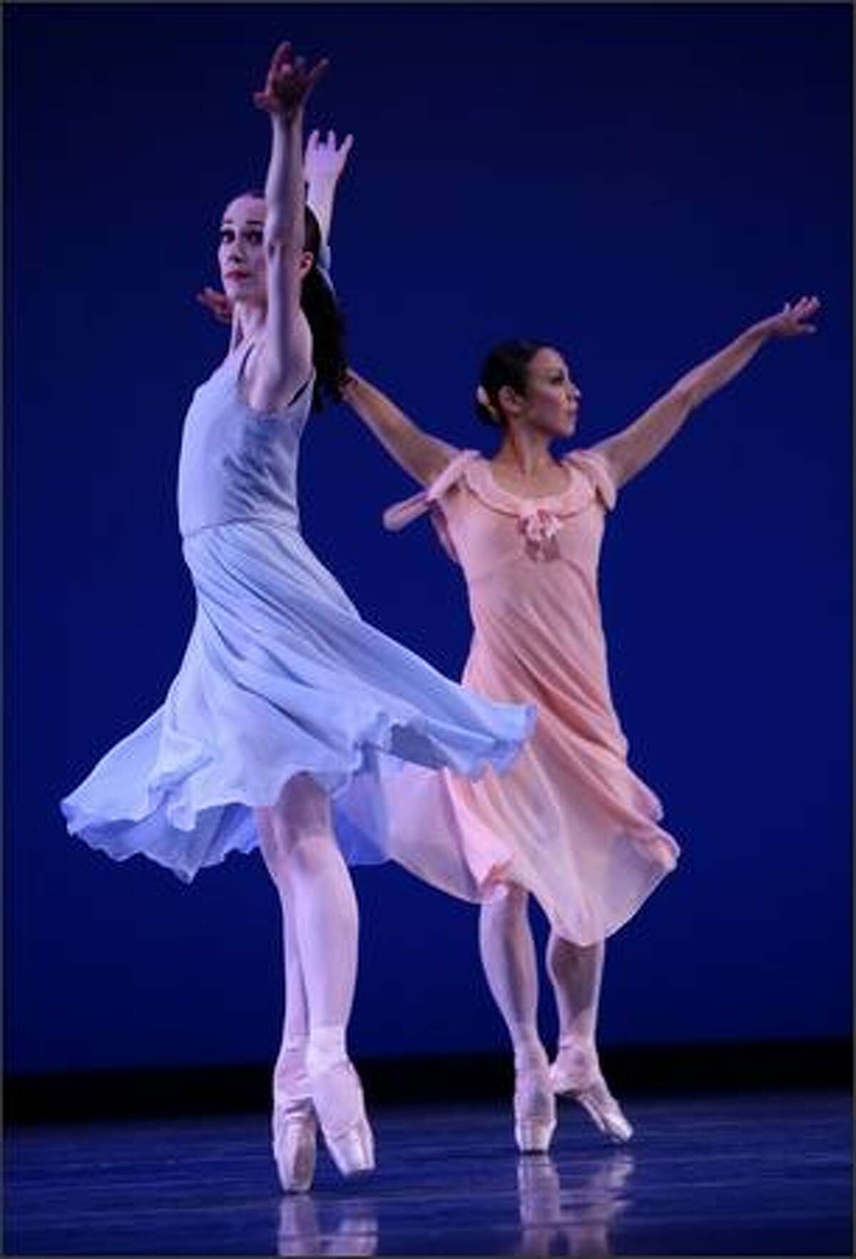 Corps de ballet dancer Sarah Ricard Orza, left, and principal dancer Kaori Nakamura of Pacific Northwest Ballet perform Jerome Robbins'