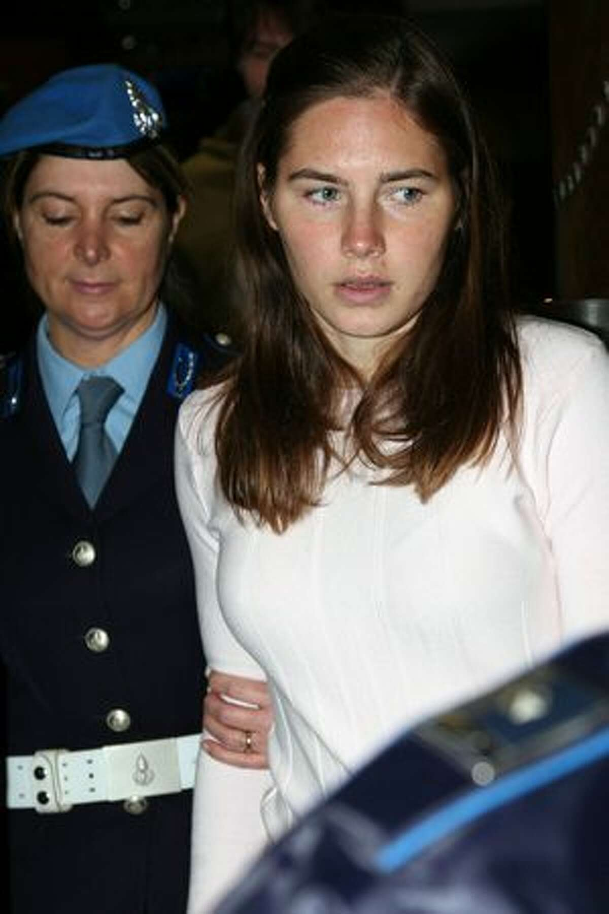 Amanda Knox arrives at the Perugia courthouse for the civil parties summing up of the Meredith Kercher murder trial Friday in Perugia, Italy. Amanda Knox and her former Italian boyfriend Raffaele Sollecito have been charged with the murder of British student Meredith Kercher on November 1, 2007 in Italy.