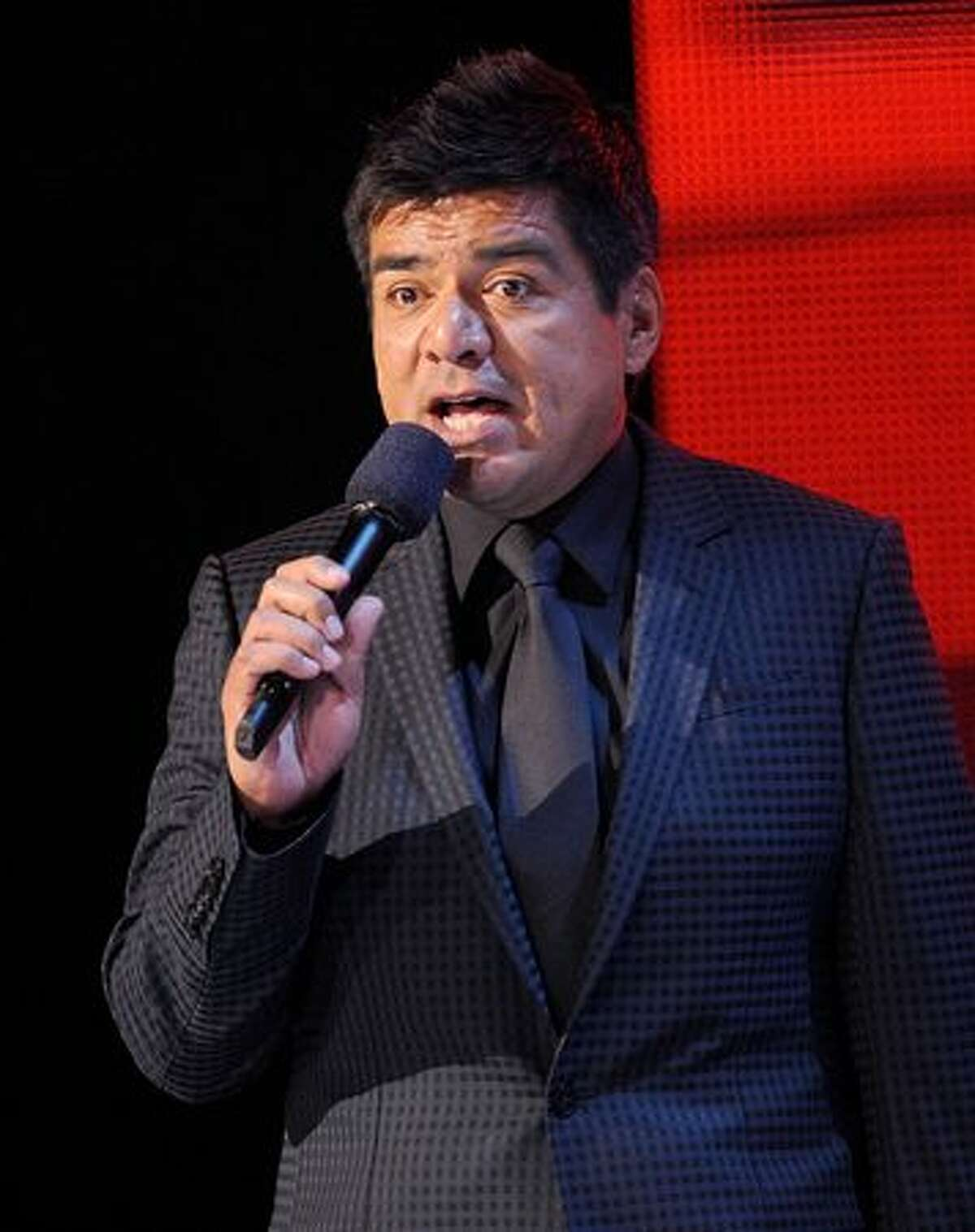 Comedian Geroge Lopez speaks onstage during The GRAMMY Nominations Concert Live! at the Club Nokia on December 2, 2009 in Los Angeles, California.