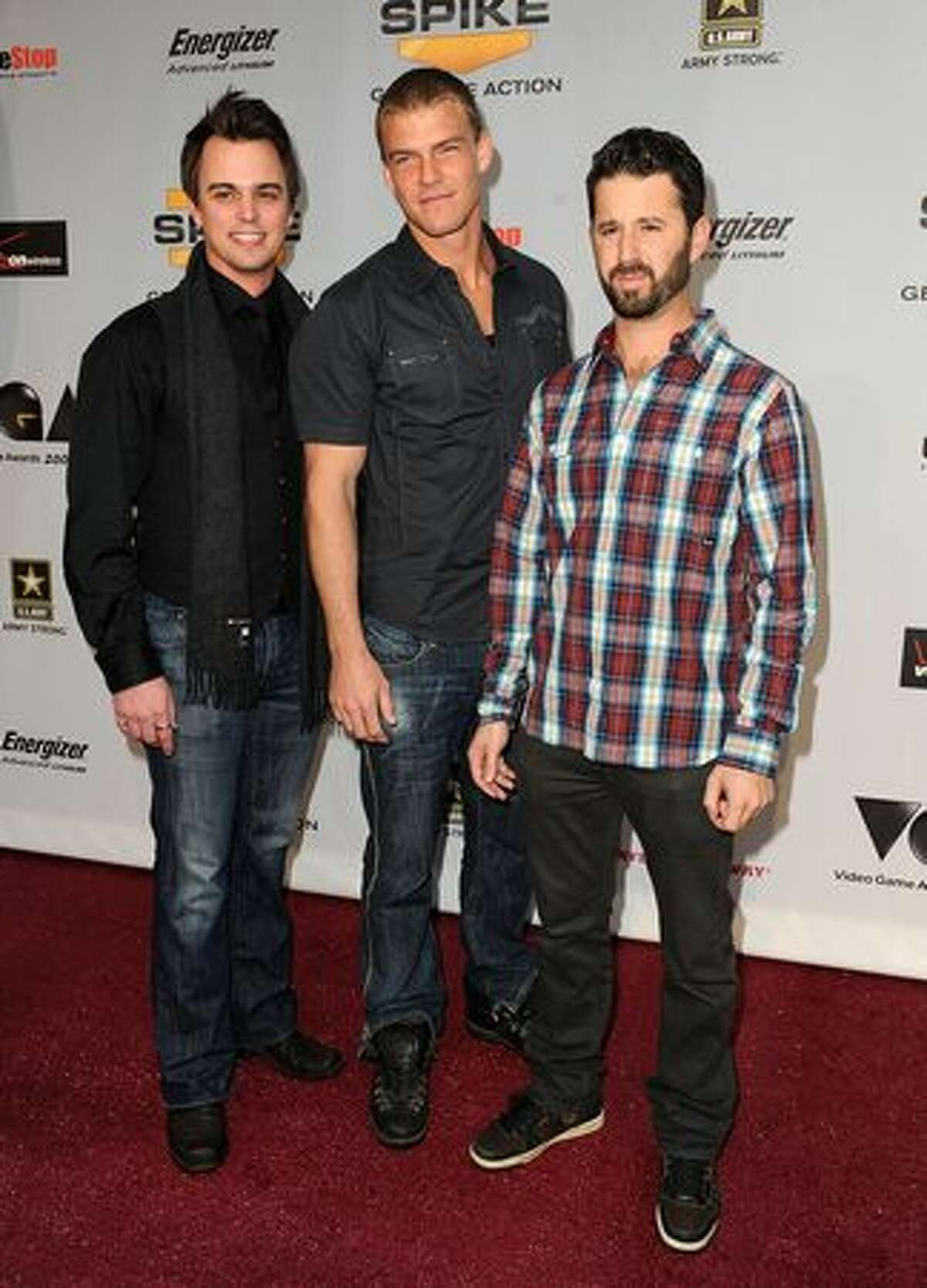 (L-R) Actors Darin Brooks, Alan Ritchson and Chris