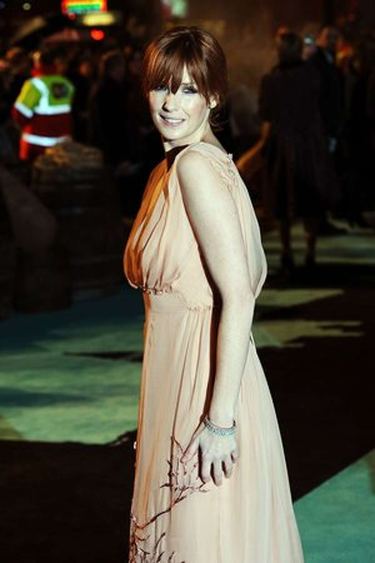Kelly Reilly attends the world premiere of Sherlock Holmes at Empire Leicester Square in London, England.