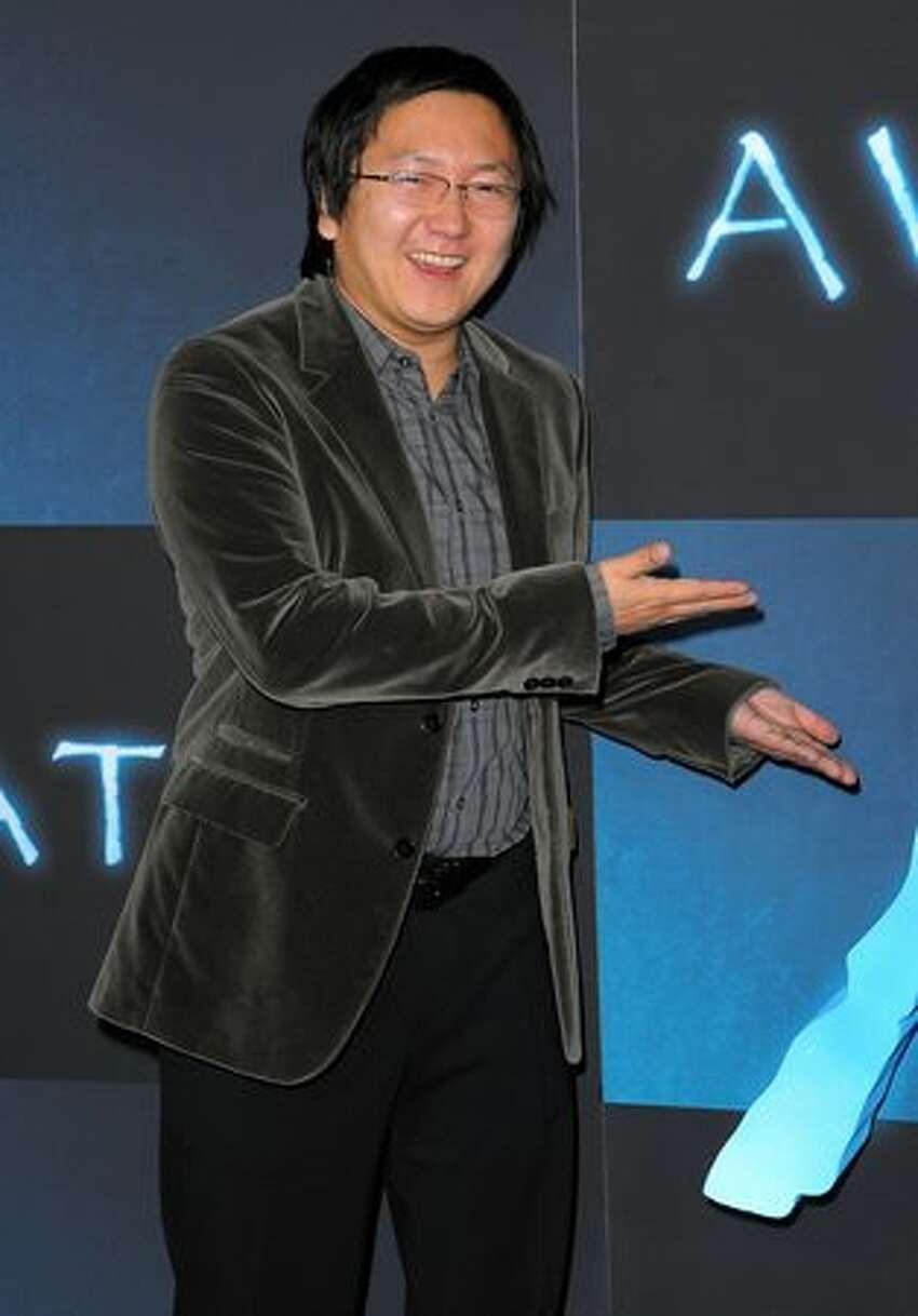 Actor Masi Oka arrives.