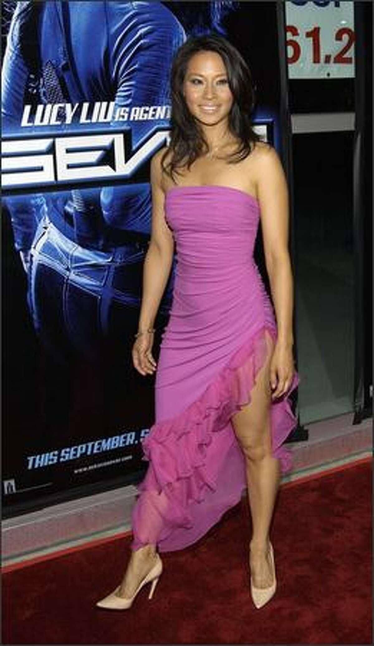 Lucy Liu attends the film premiere of