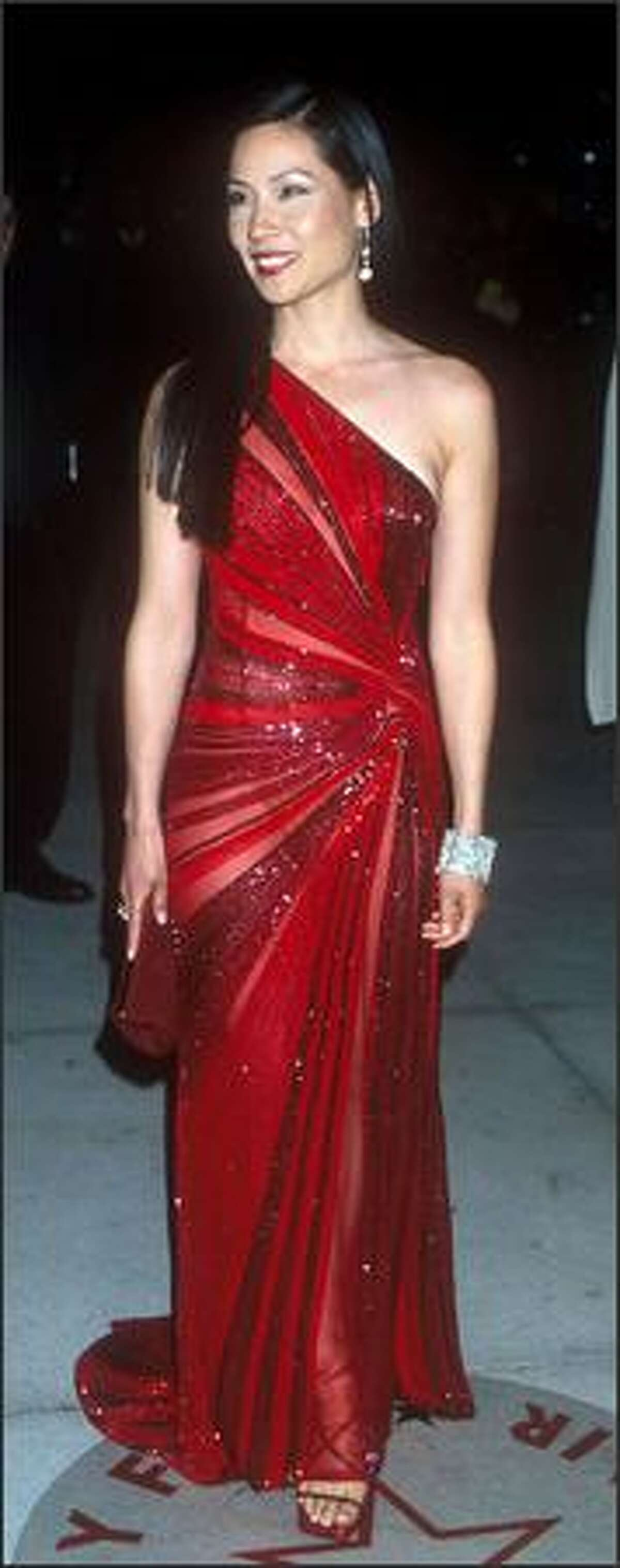 Lucy Liu attends the Vanity Fair Post-Oscar Party in West Hollywood, Calif., March 26, 2000.