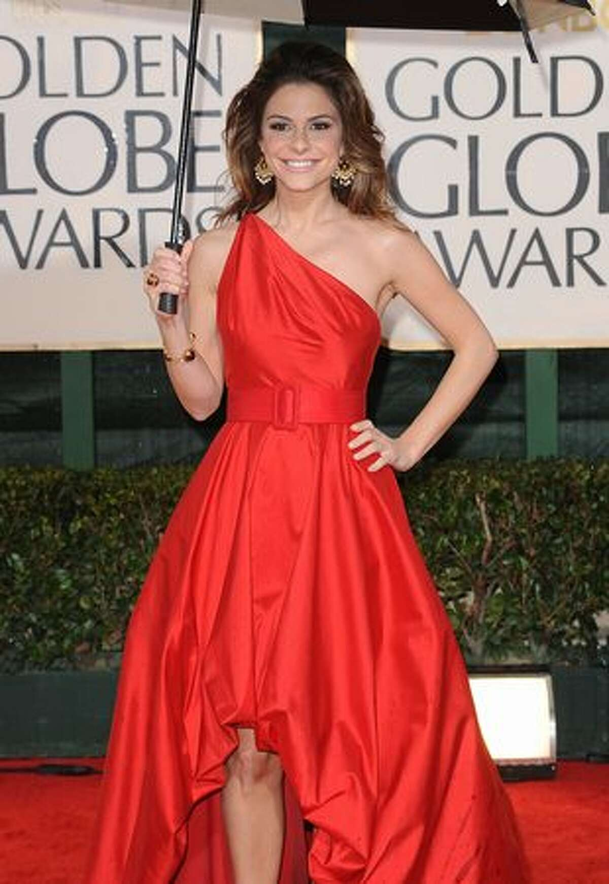 TV personality Maria Menounos arrives at the 67th Annual Golden Globe Awards held at The Beverly Hilton Hotel in Beverly Hills, California.