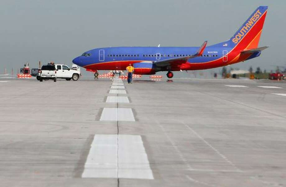 A Southwest Airlines plane pictured at Sea-Tac Airport. Photo: Joshua Trujillo, Seattlepi.com