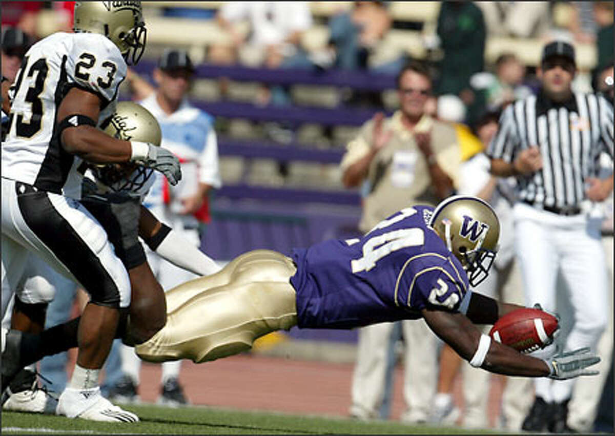 Tailback Rich Alexis scored his 26th career touchdown on a first-quarter dive against Idaho on Saturday.