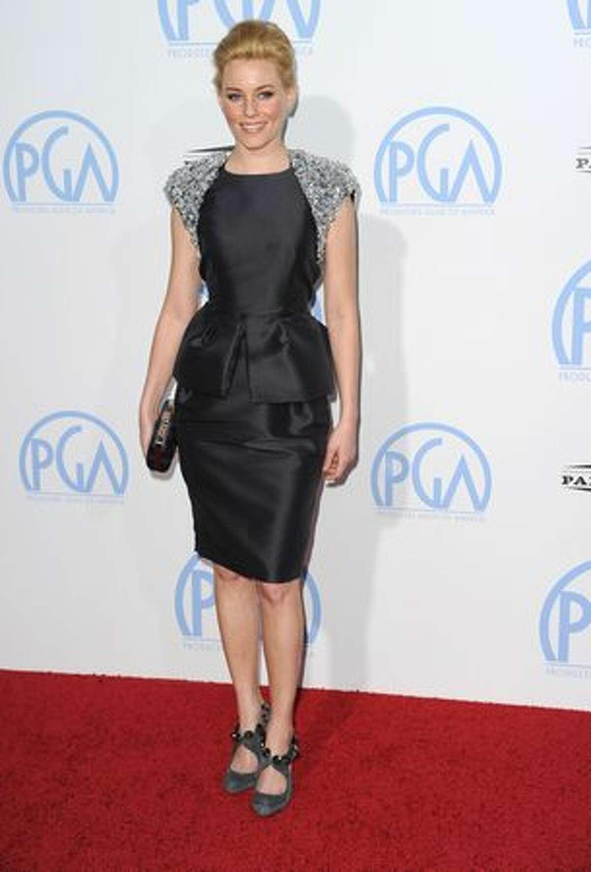 Actress Elizabeth Banks arrives.