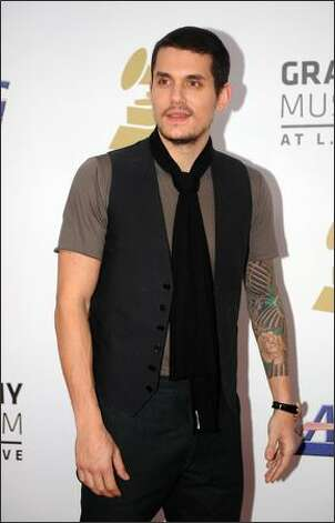 Singer John Mayer arrives. Photo: Getty Images