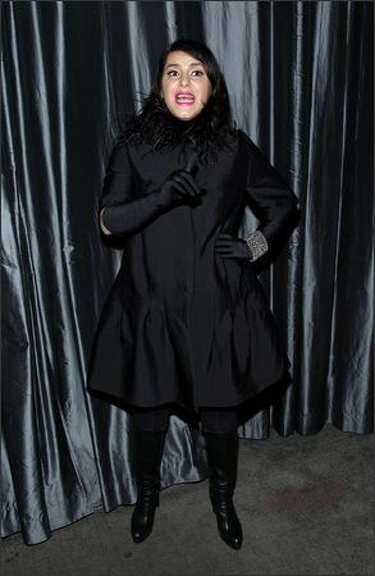 Writer Marjane Satrapi attends the 2007 New York Film Critic's Circle Awards at Spotlight in New York City.