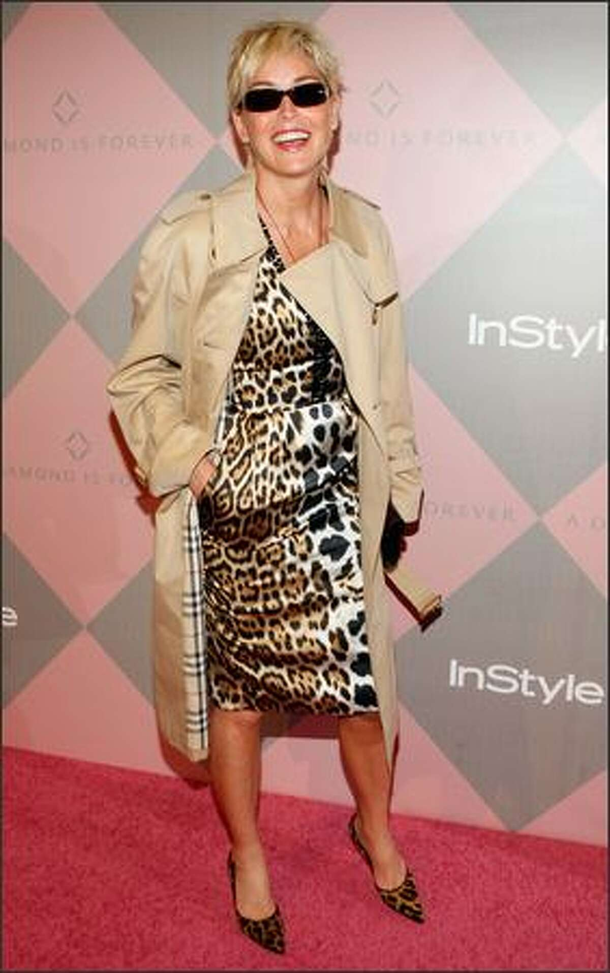 Actress Sharon Stone attends.