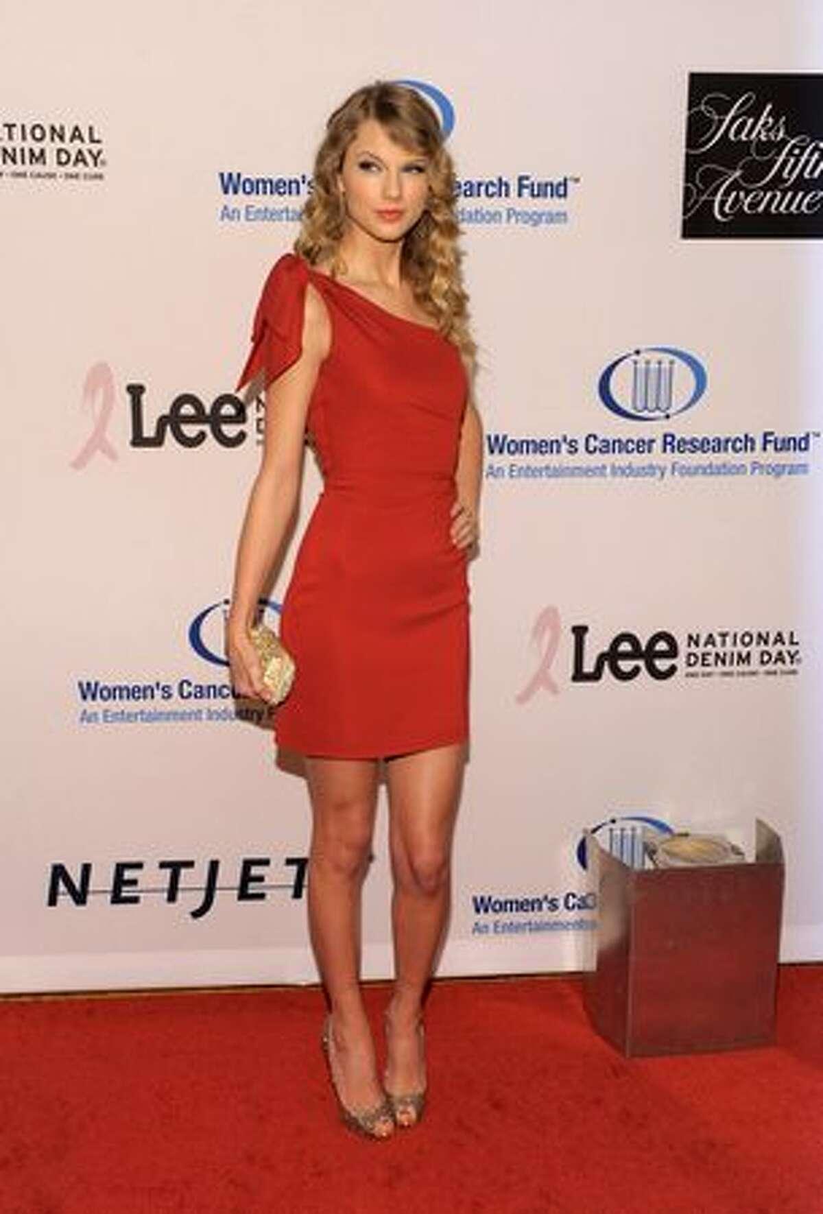Singer Taylor Swift arrives at