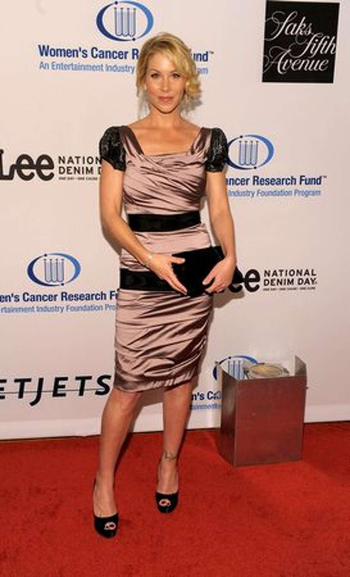Actress Christina Applegate arrives.