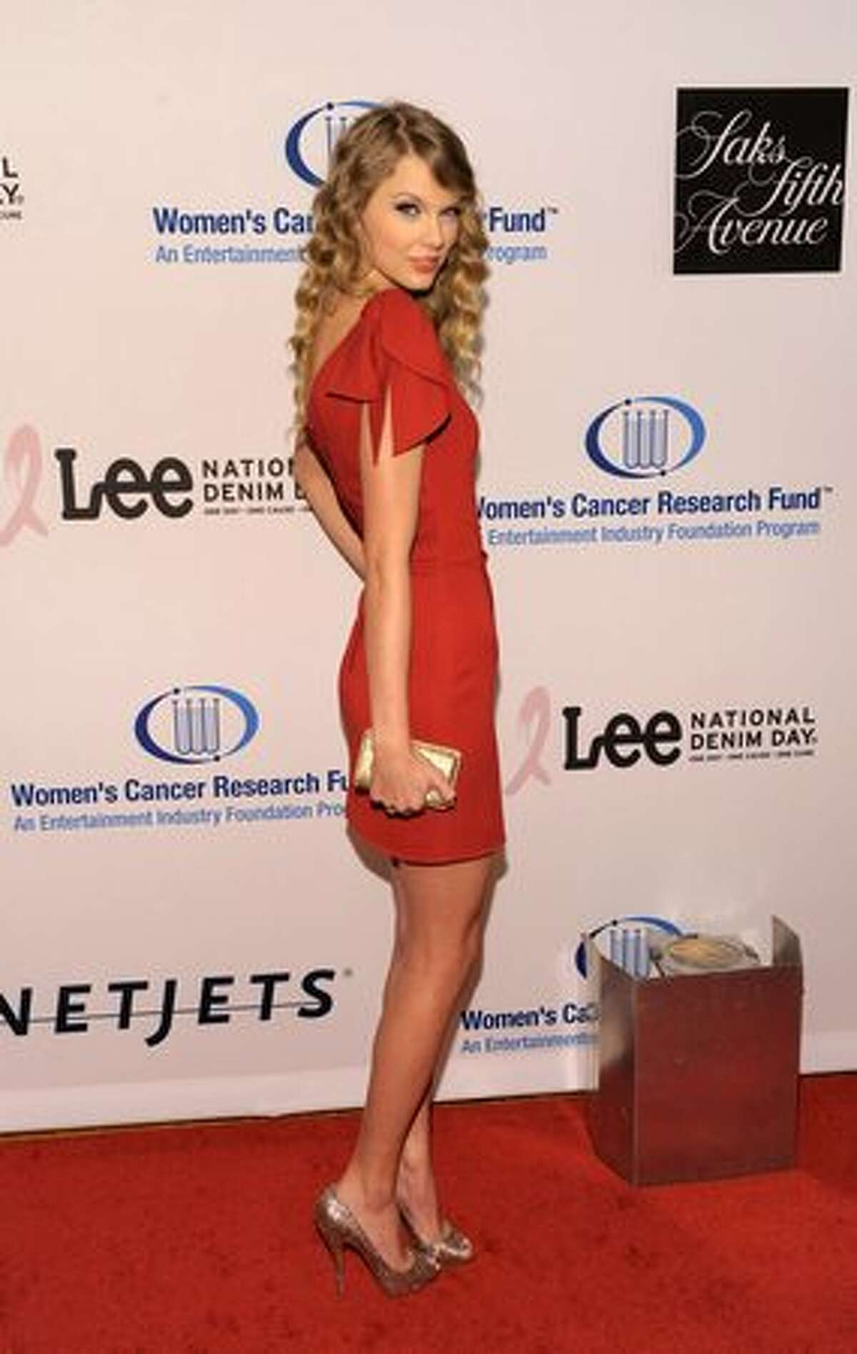 Singer Taylor Swift arrives.