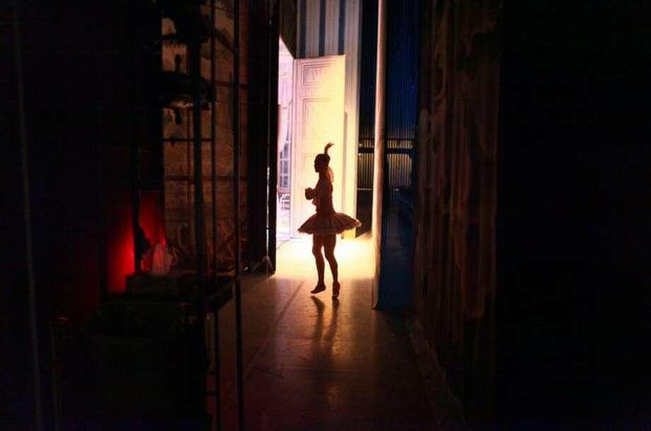 A dancer prepares backstage. Photo: Joshua Trujillo, Seattlepi.com