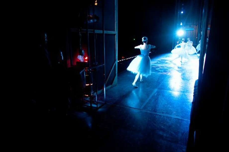 A dancer takes the stage. Photo: Joshua Trujillo, Seattlepi.com