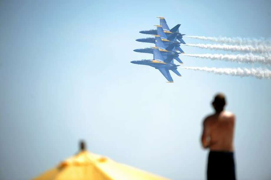The Blue Angels perform during Seafair 2009 on Aug. 2, 2009. Photo: Thom Weinstein, Seattlepi.com