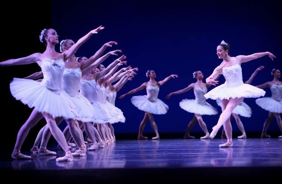 "Members of the Pacific Northwest Ballet perform George Balanchine's ""Symphony in C"" during a dress rehearsal for the final program of the 2008-09 season on May 27, 2009 at McCaw Hall in Seattle. Photo: Joshua Trujillo, Seattlepi.com"