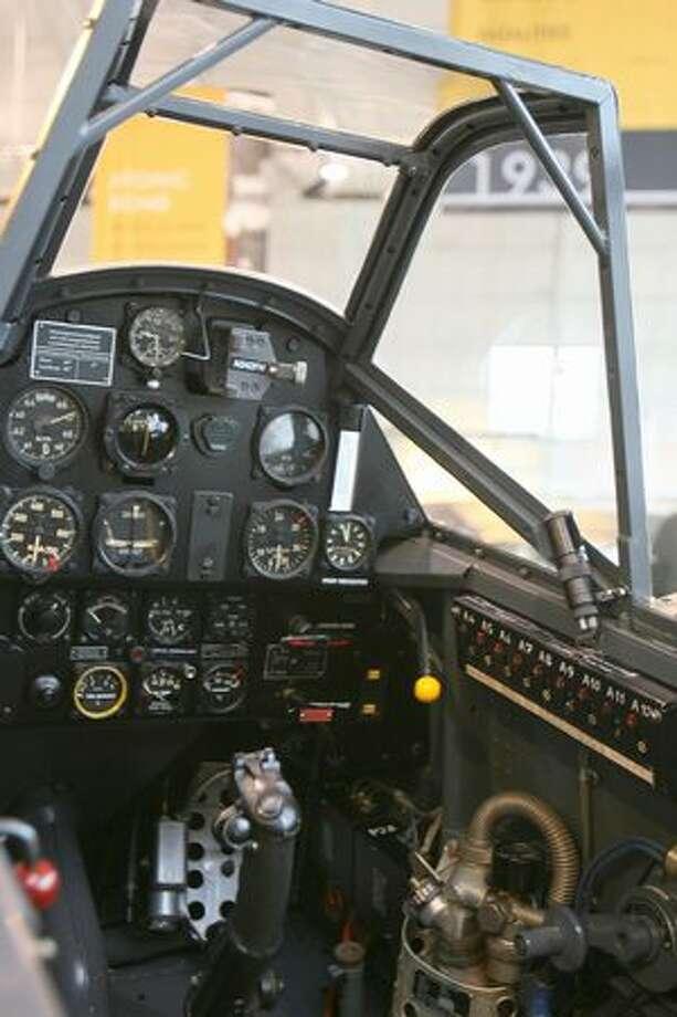 Cockpit of a Messerschmitt Bf 109-E. Photo: Aubrey Cohen, Seattlepi.com