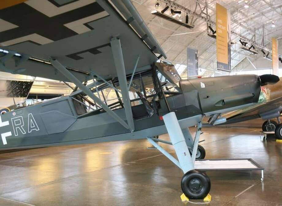 The Flying Heritage Collection's Storch was built in Germany in 1943 and used in Occupied Europe and on the Russian Front. It was found in derelict condition in East Germany in the late 1980s. Photo: Aubrey Cohen, Seattlepi.com