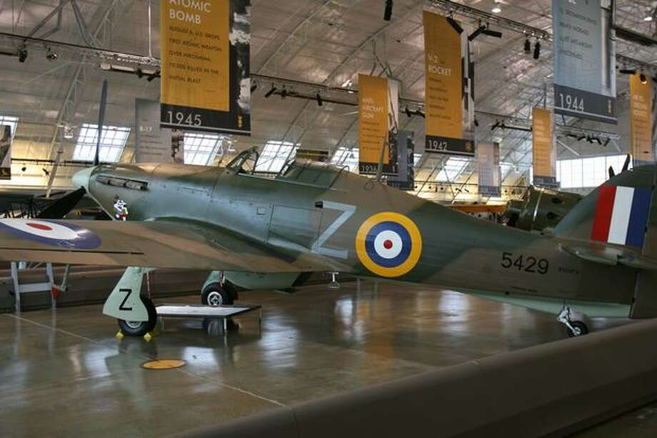 Flying Heritage Collection: Hawker HurricaneThis was a British WWII staple and destroyed more enemy aircraft in the Battle of Britain than the more-famous Supermarine Spitfire, although the Hurricane took on sluggish bombers, rather than fighters. This Hurricane was made in Canada and delivered to the Royal Canadian Air Force on Jan. 22, 1942, but did not see combat. Photo: Aubrey Cohen, Seattlepi.com