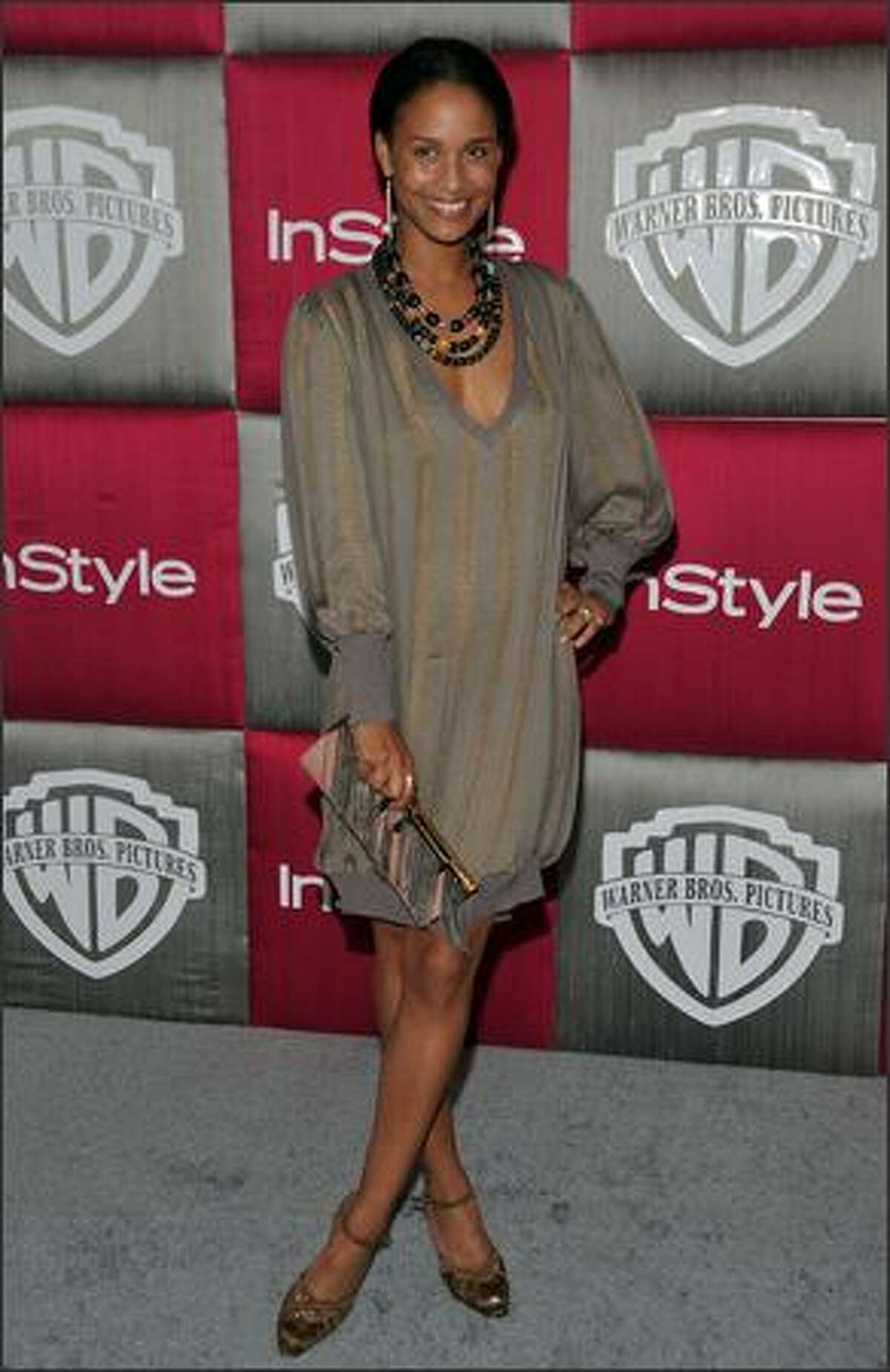 Actress Joy Bryant arrives.