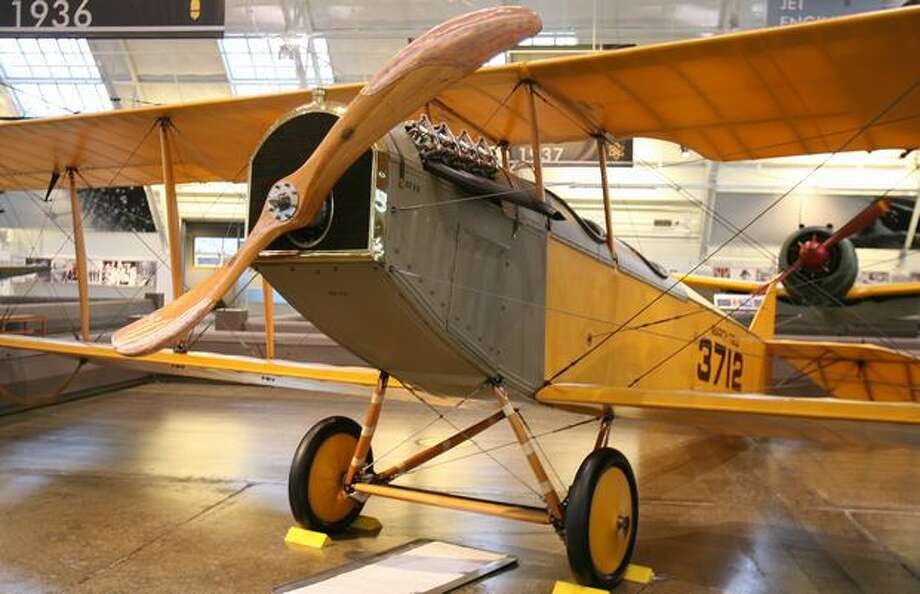 Everett's Paine Field is home to two great collections of historic, still-airworthy aircraft: The Flying Heritage Collection and Historic Flight Foundation. Here are aircraft from both collections, starting with the Flying Heritage Collection's Curtiss JN-4D Jenny.The Jenny was the first mass-produced American aircraft and used as a WWI trainer, with an instructor yelling to the student from the back seat using a tube into his helmet. This Jenny was made in May 1918 for military service and sold back to Curtiss on May 6, 1919 for reconditioning and civilian resale. Photo: Aubrey Cohen, Seattlepi.com