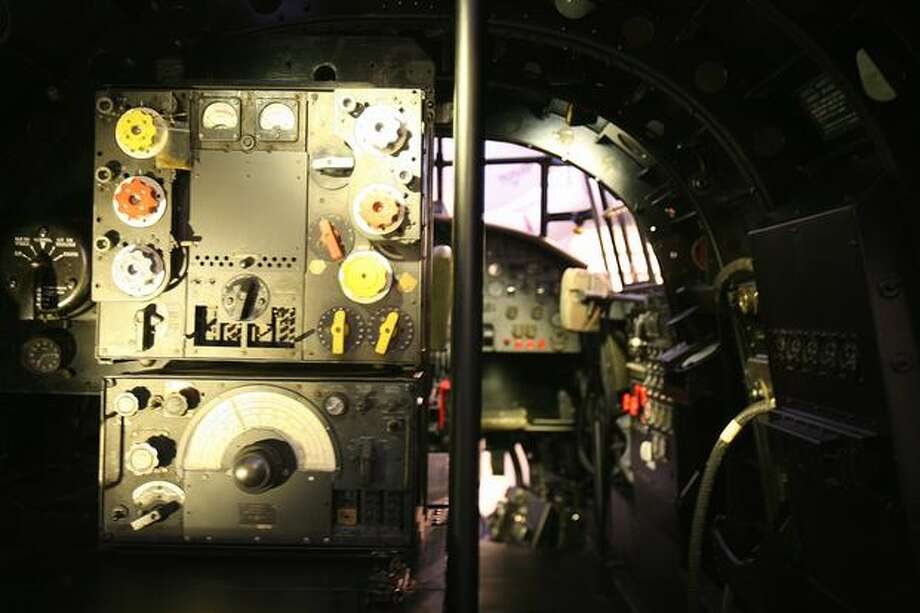 Cockpit of the Avro Lancaster Photo: Aubrey Cohen, Seattlepi.com