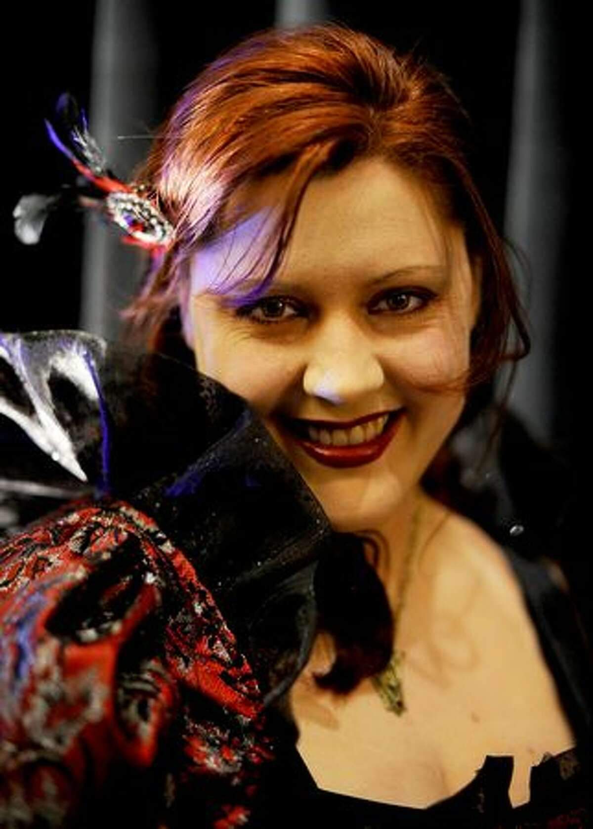 Amy Rigby dresses as a vampire for the costume contest at the Official Twilight Convention at the Westin Hotel in Seattle.