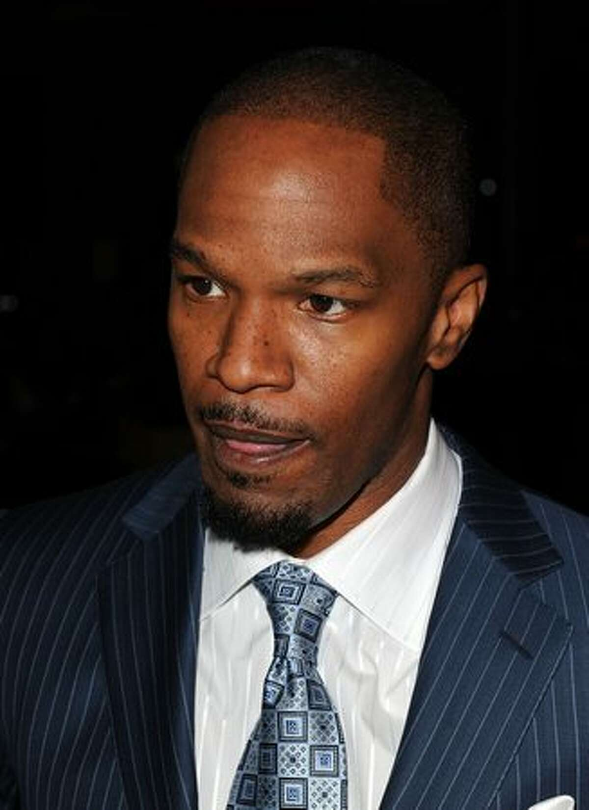 Actor Jamie Foxx arrives.