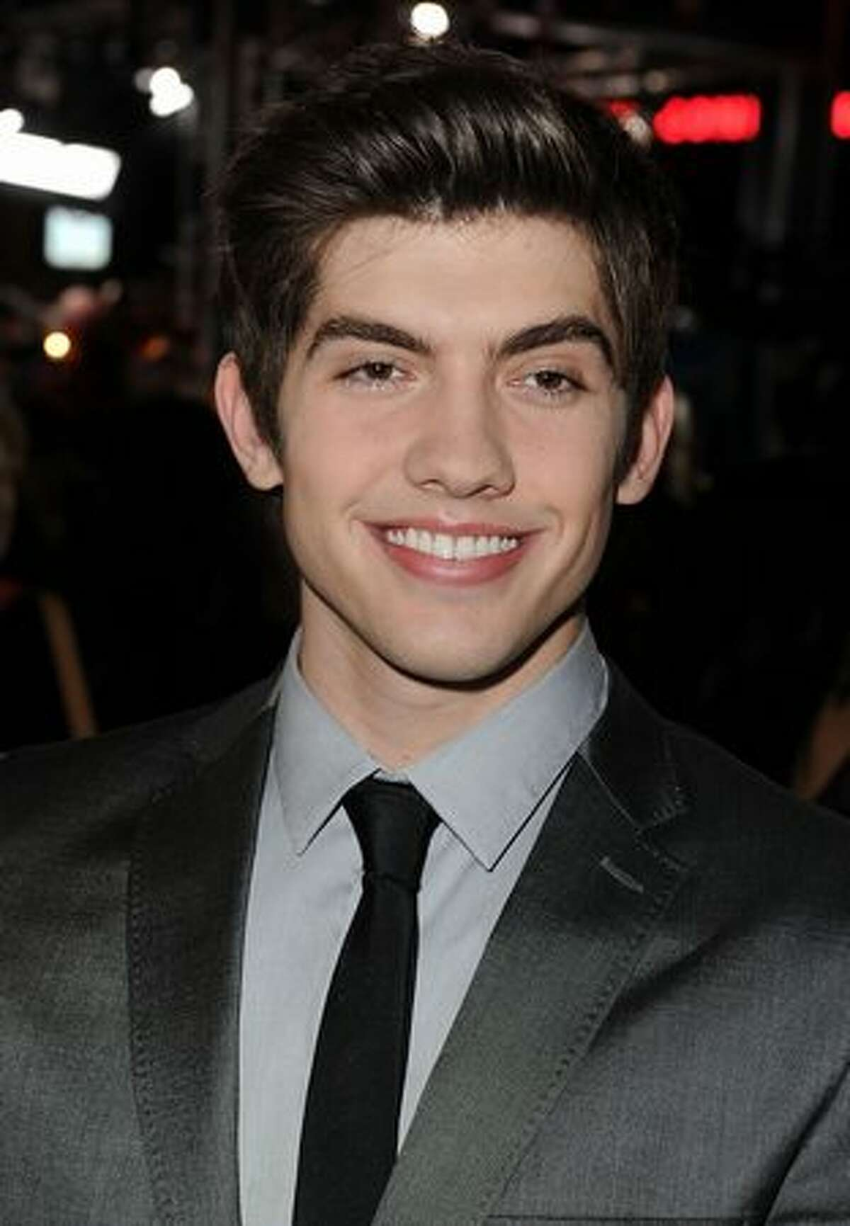 Actor Carter Jenkins arrives.