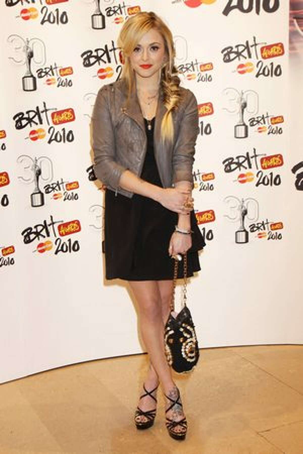 Fearne Cotton arrives at The Brit Awards 2010 held at Earls Court on February 16, 2010 in London, England.