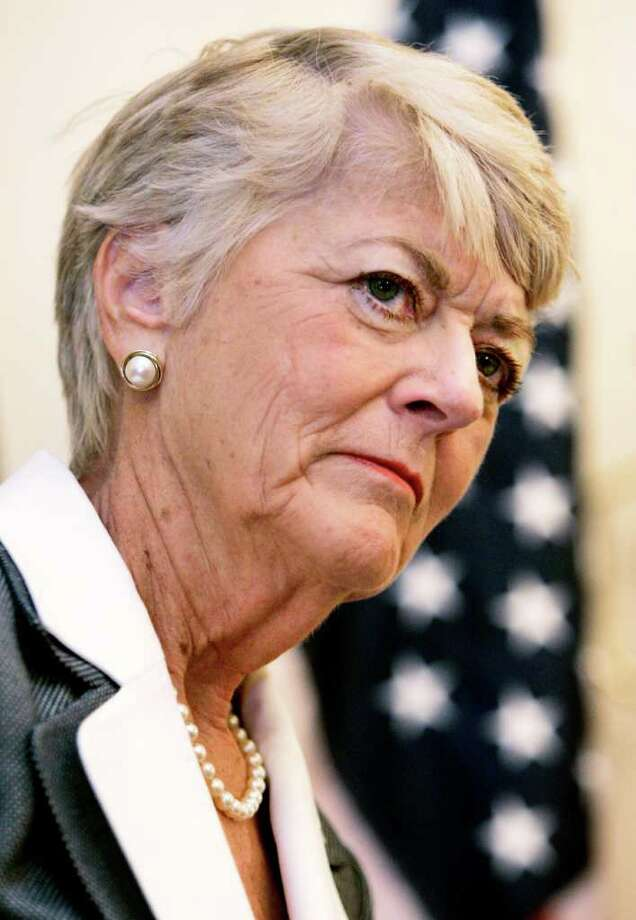 FILE - This Friday, May 4, 2007 picture shows former Democratic vice presidential candidate Geraldine Ferraro during a news conference before a fundraising lunch hosted by U.S. Rep. Jan Schakowsky, D-Ill., in Chicago. The first woman to run for U.S. vice president on a major party ticket has died. Geraldine Ferraro was 75. A family friend said Ferraro, who was diagnosed with blood cancer in 1998, died Saturday, March 26, 2011 at Massachusetts General Hospital. (AP Photo/Charles Rex Arbogast) Photo: Charles Rex Arbogast