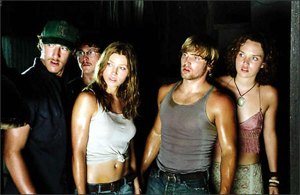 From left: Kemper (Eric Balfour), Morgan (Jonathan Tucker), Erin (Jessica Biel), Andy (Mike Vogel) and Pepper (Erica Leerhsen) don't know what they've gotten themselves into.