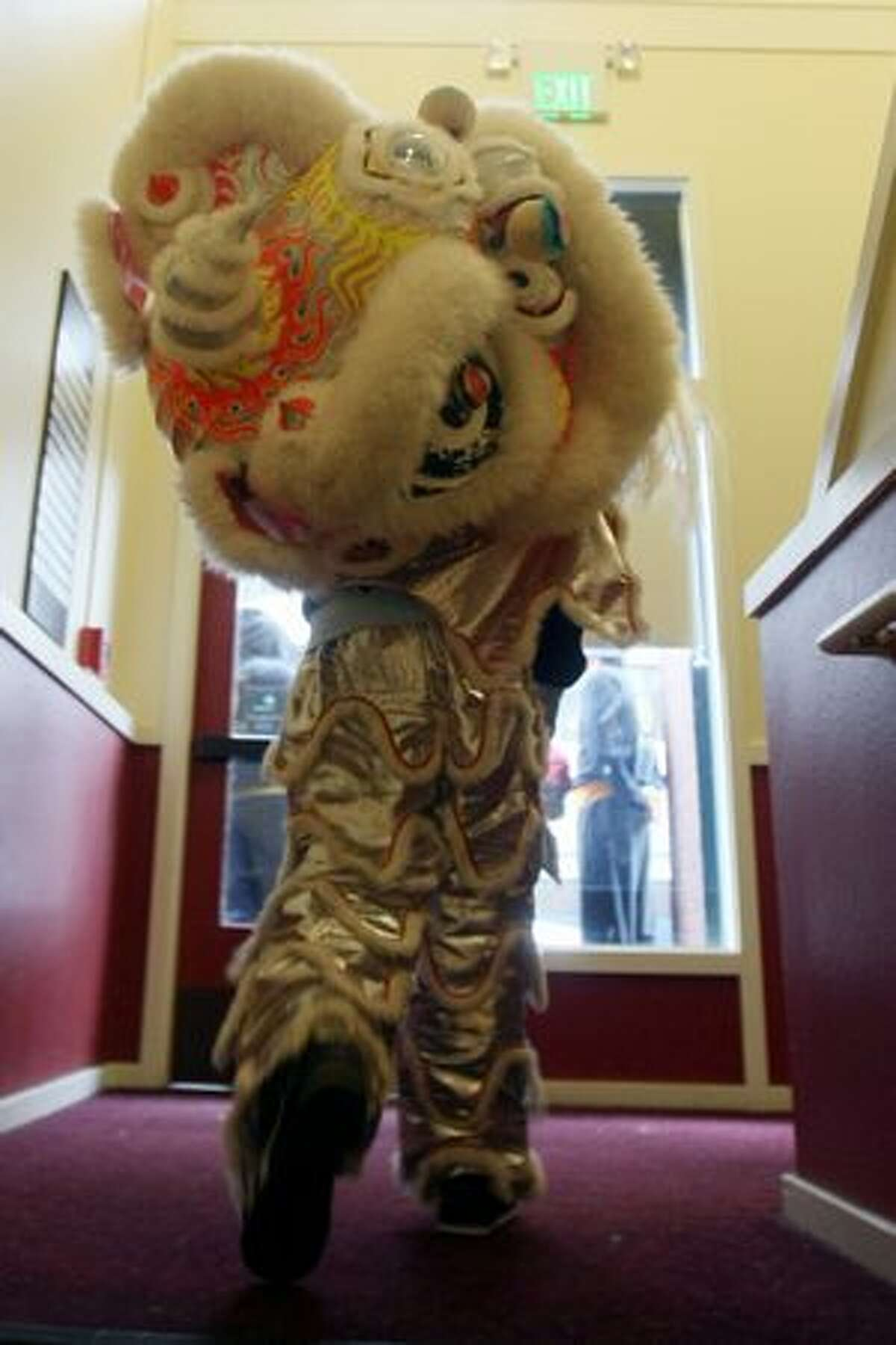 A during the Lunar New Year celebration in Seattle's International District Feb. 13, 2010.
