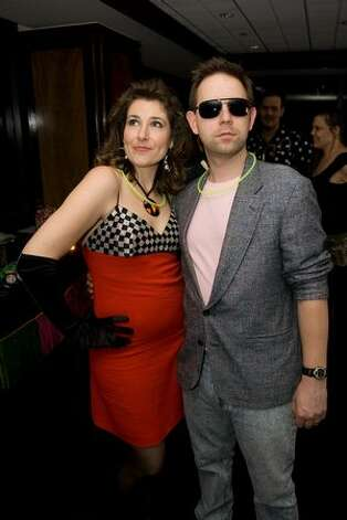 Rosie and Mark Griswold at the '80s Prom Night party at the Columbia Tower Club. (Humberto Martinez / seattlepi.com)
