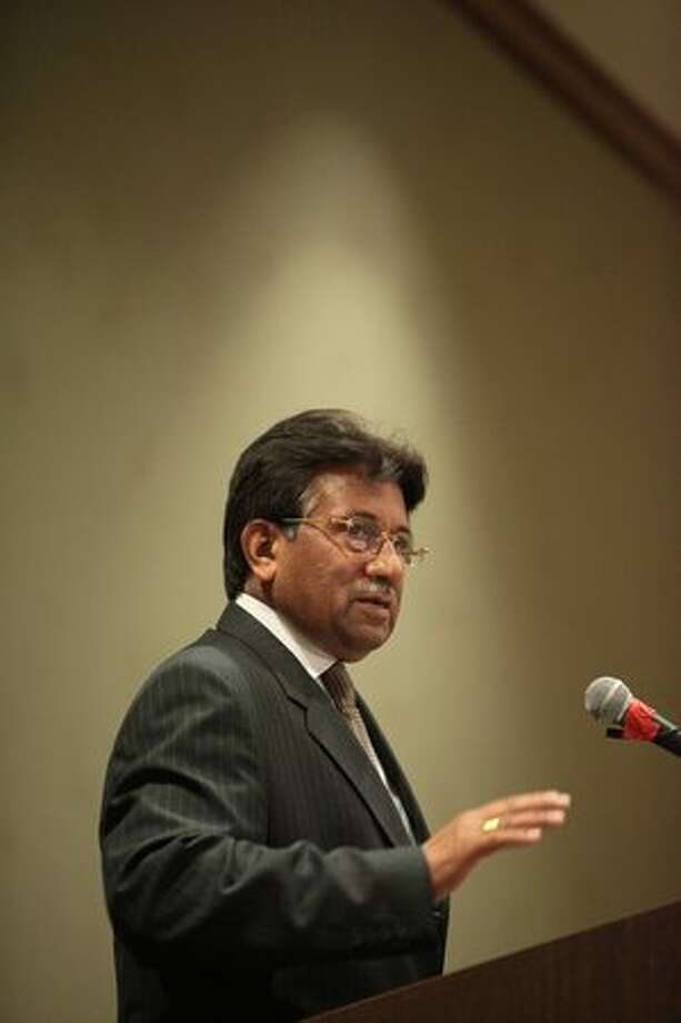 Former President of Pakistan Pervez Musharraf speaks. Photo: Joshua Trujillo, Seattlepi.com