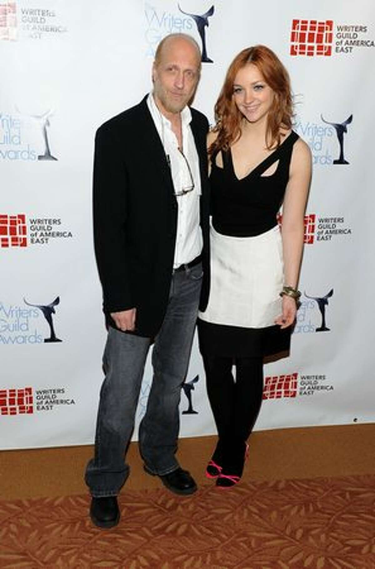 NEW YORK - FEBRUARY 20: Actor/Writer Chris Elliott and actress Abby Elliot attend the 62nd Annual Writers Guild Awards at Hudson Theatre on February 20, 2010 in New York City.