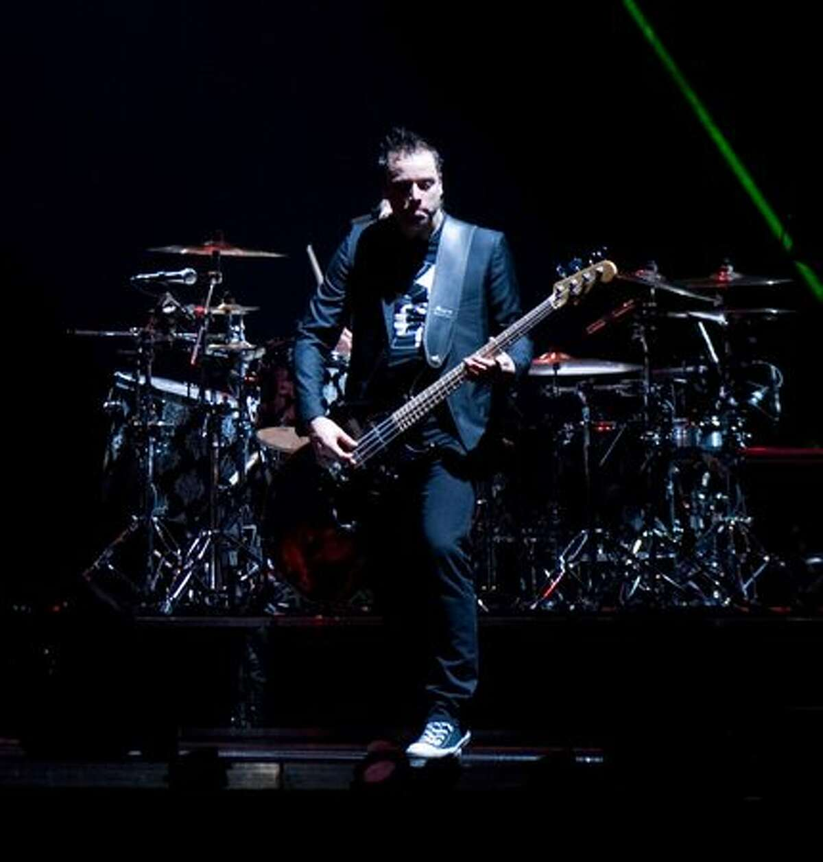 Muse performing a sold-out show at Key Arena on April 2, 2010.