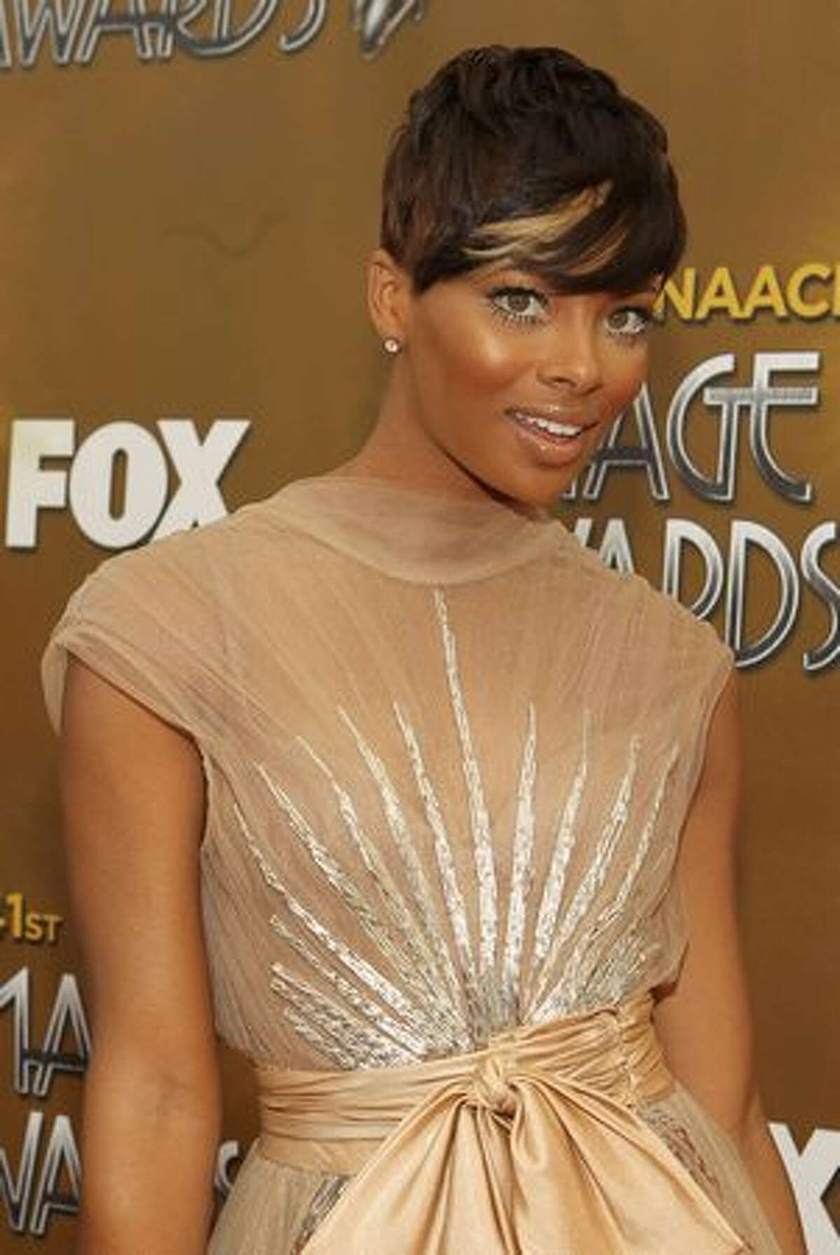 Actress Eva Marcille arrives at the 41st NAACP Image awards held at The Shrine Auditorium on February 26, 2010 in Los Angeles, California.