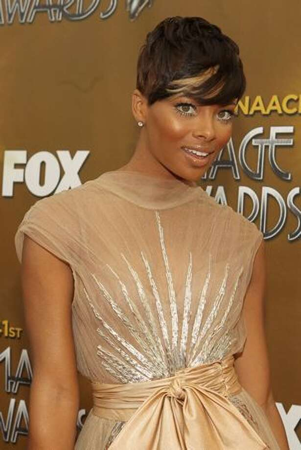 Actress Eva Marcille arrives at the 41st NAACP Image awards held at The Shrine Auditorium on February 26, 2010 in Los Angeles, California. Photo: Getty Images