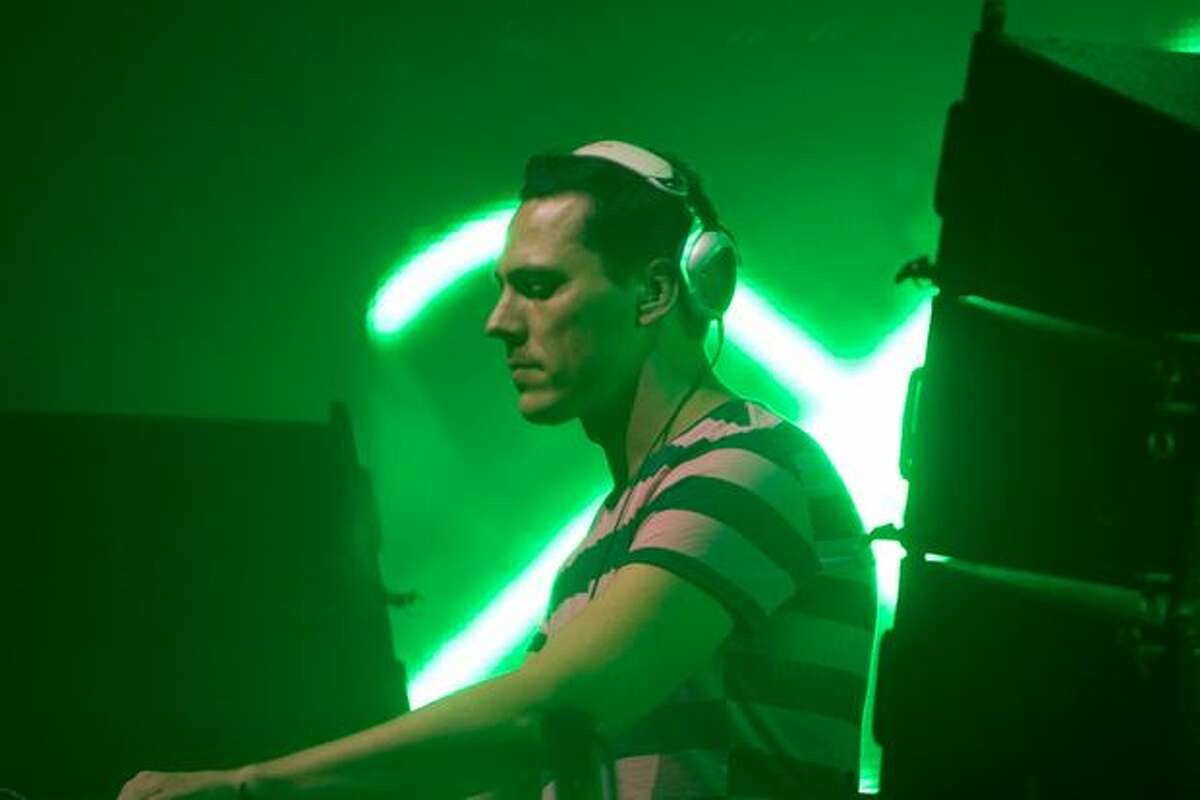 Dutch DJ Tiesto puts on his electronic music dance show at WaMu Theatre in Seattle on April 10, 2010.