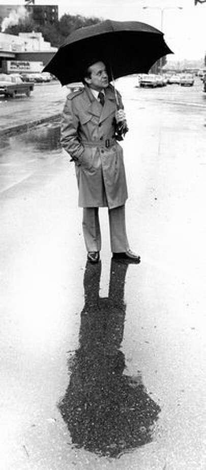 Former KIRO meteorologist Harry Wappler in Oct. 1977.  Wappler died April 21 at age 73.(Cary W. Tolman/seattlepi.com file)